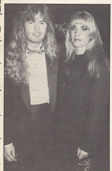 Dave Mustaine & his wife
