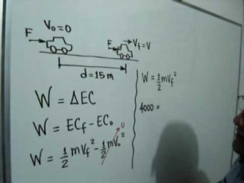 Teorema del Trabajo y la Energía Cinética: Julio Rios explica una situación problema donde se utiliza el Teorema del Trabajo y la Energía Cinética y el concepto de Trabajo efectuado por una fuerza.