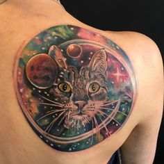... tattoo on Pinterest | Outer space tattoos Watercolor tattoos and