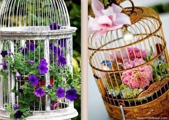 Id es r cup et d co cages oiseaux composition cage a for Cage a oiseaux deco