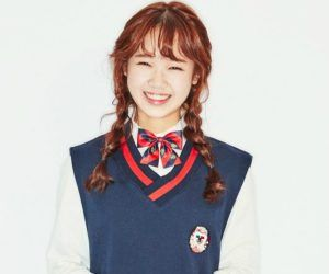 """I.O.I's Yujung """"Dream Girl"""" promotional picture."""
