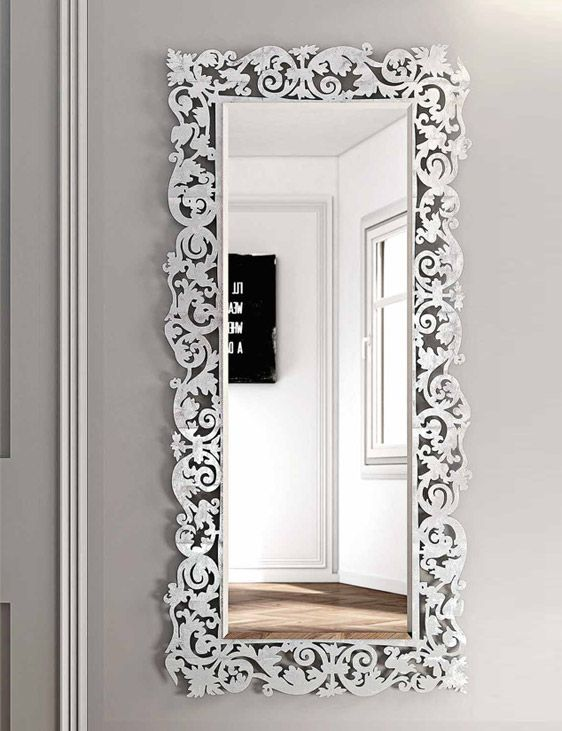 65 best buy designer wall mirror online in india bathroom for Miroir rectangulaire baroque