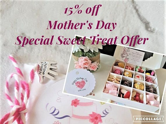 Mother's Day Luxury Sweet Chocolate Gift Box-Ferrero Rocher Chocolates & Retro Sweets Gift Box-Sweet Chocolate Box-Birthdays-Gift for Mum