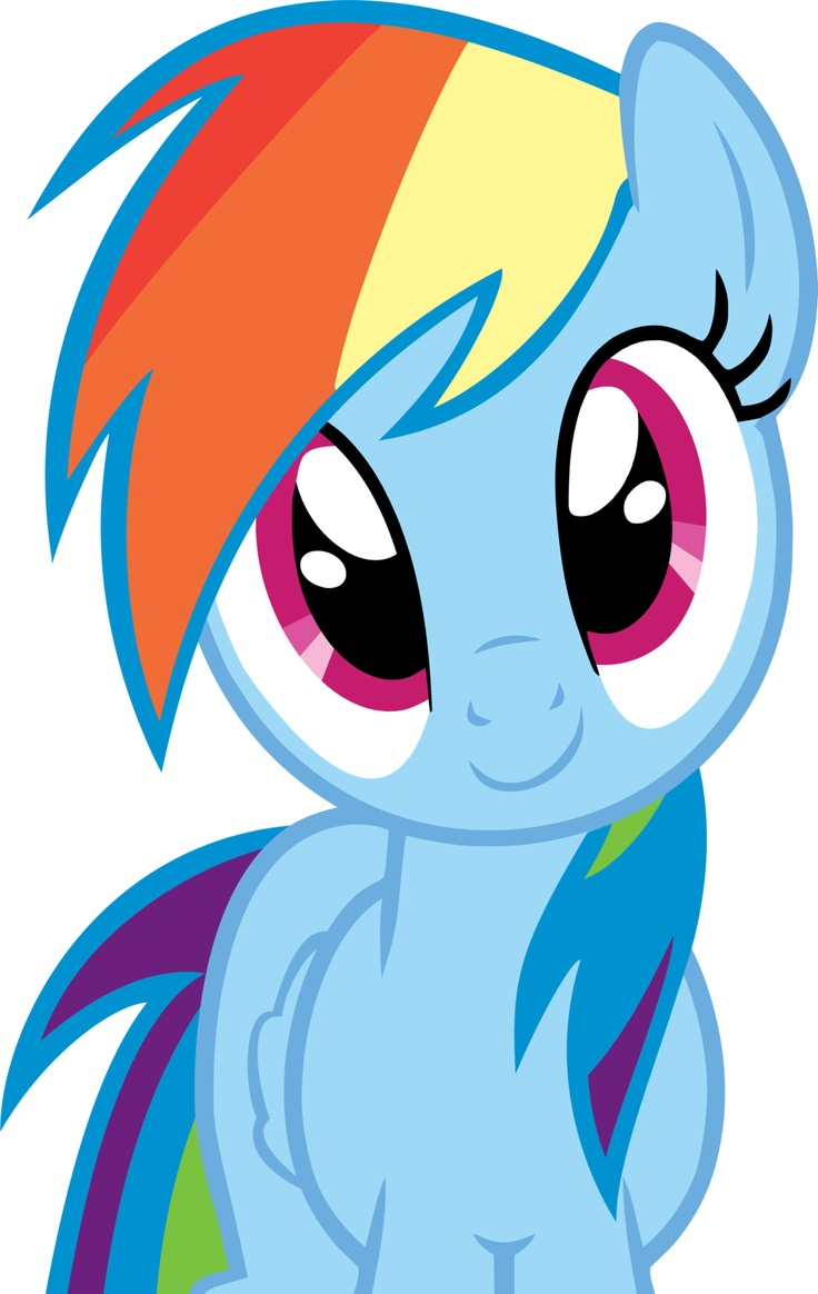 Rainbow Dash Innocent Smile by RonToday2012.deviantart.com on @deviantART