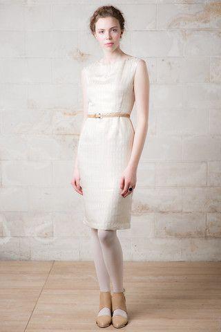 Farewell Precious Dress in cream silk would be great as a alternative wedding dress.