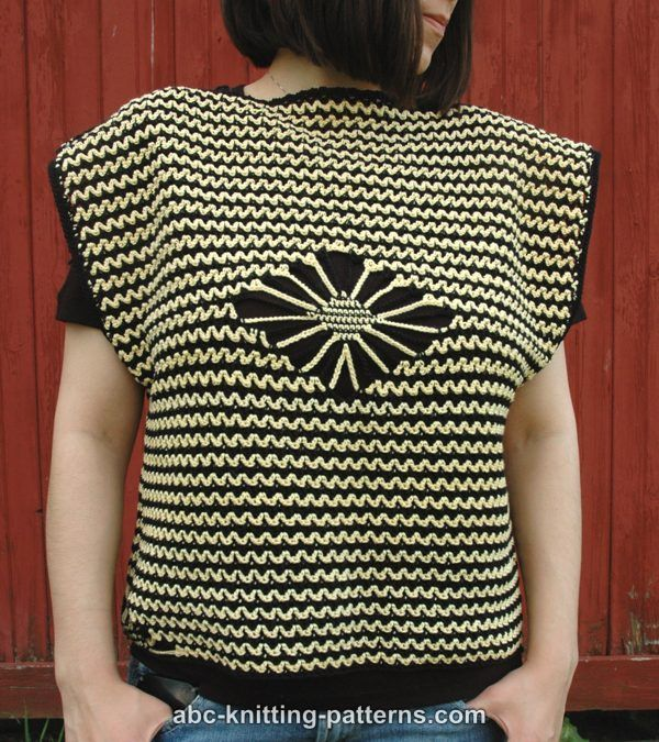 ABC Knitting Patterns - Busy Bee Summer Top