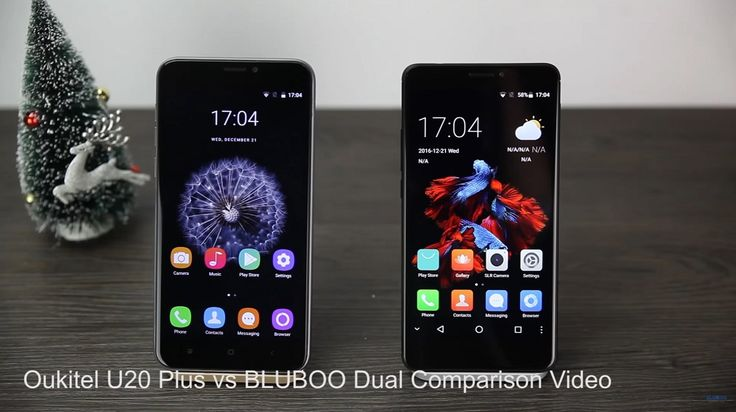 New Video Compares The BLUBOO Dual Against The OUKITEL U20 Plus #android #google #smartphones
