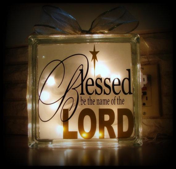 Best Glass Block Ideas Images On Pinterest Glass Blocks - Nativity vinyl decal for glass block light