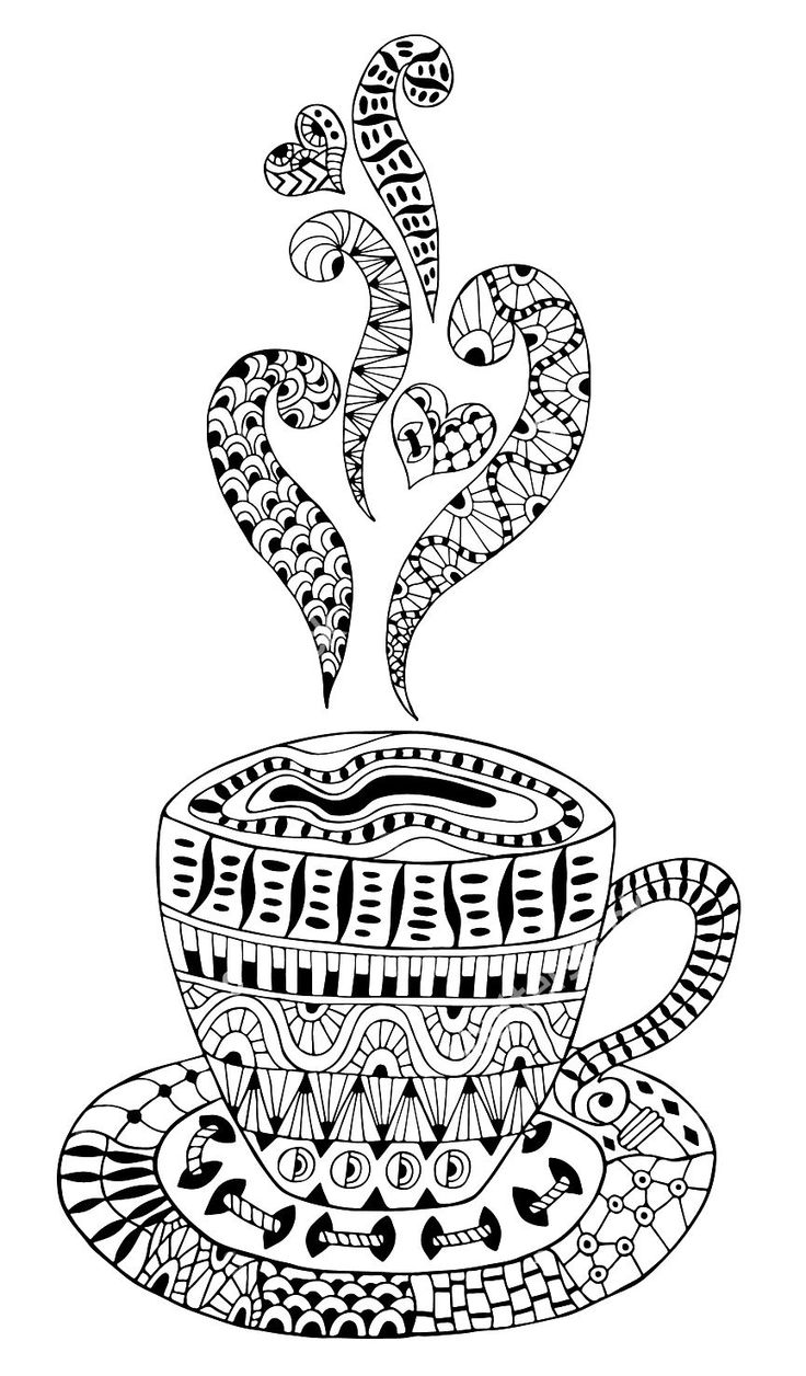 Environmental coloring activities - Adult Coloring Pages Coffee