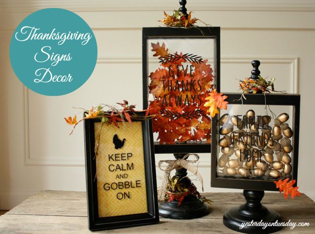 Thanksgiving Decor Ideas: Holiday Ideas, Thanksgiving Ideas, Decor Ideas, Thanksgiving Decor, Frames Thanksgivingcrafts, Decorating Ideas, Thanksgiving Sign, Craft Ideas