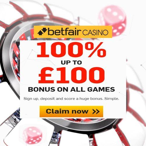 Betfair Casino Promo Code - 100% up to £100 Casino Bonus Offer - Betfair Promo Codes