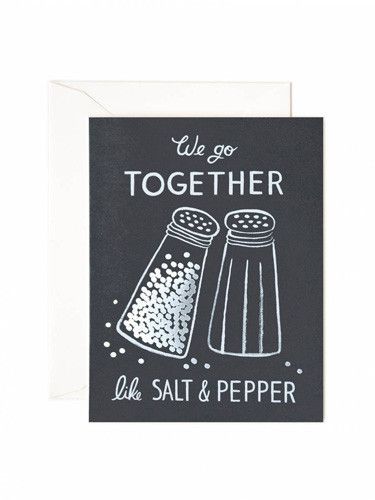 Rifle Paper Co Salt and Pepper Card