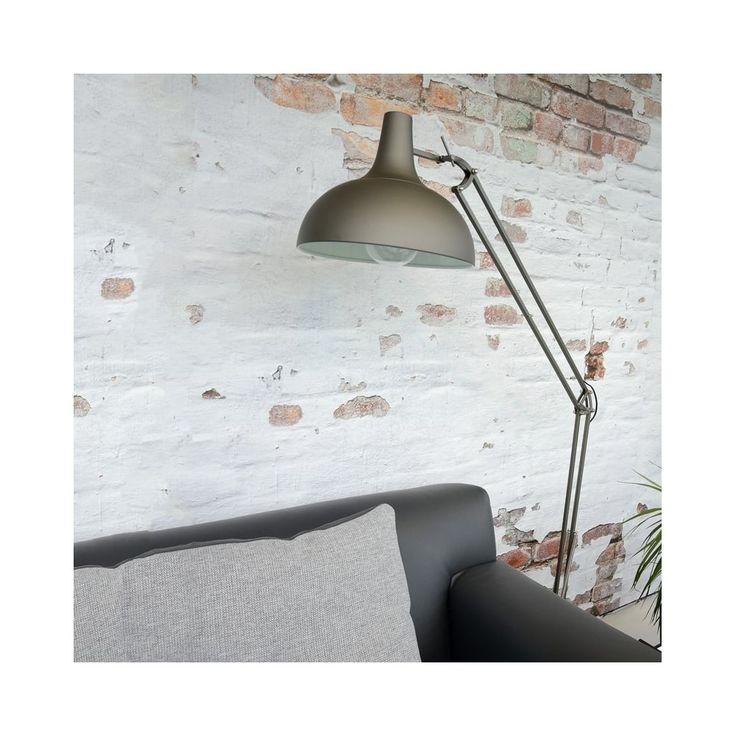 WATSIE Height Adjustable Iron Grey Floor Light