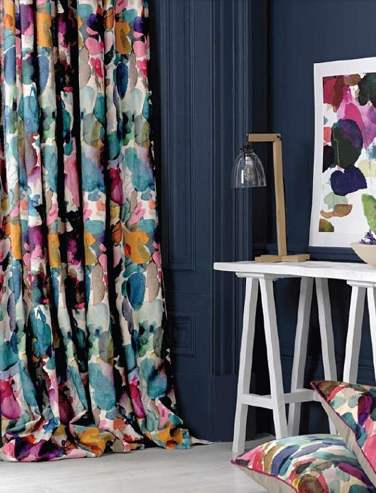 Beautiful fabric for these drapes—The Somerset Collection❣ deardesigner.co.uk