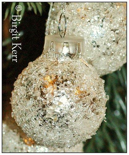 German Glass Glitter Ornaments Tutorial