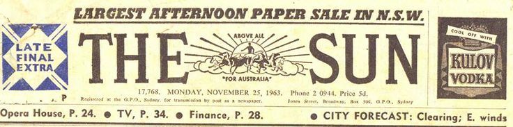 Sun Newspaper - Afternoon paper