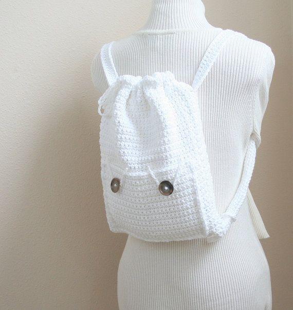 DIGITAL PATTERN:Crochet Backpack PATTERN,Drawstring Backpack Pattern,Backpack…