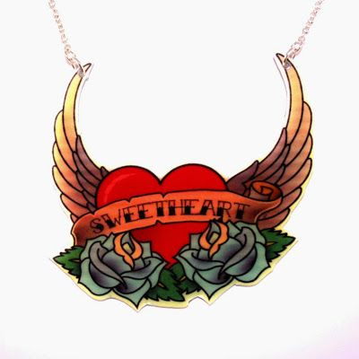 Sweetheart necklace from Sour Cherry