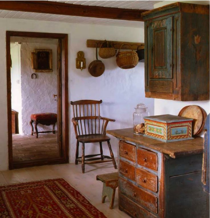 Bohemian Kitchen Prim Interiors Swedish Furniture Primitive Style