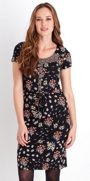 Joe Browns All the Colours of Autumn Dress, Size 16, Black Multi, BNWT #JoeBrowns #TunicSmockDress #AnyOccasion