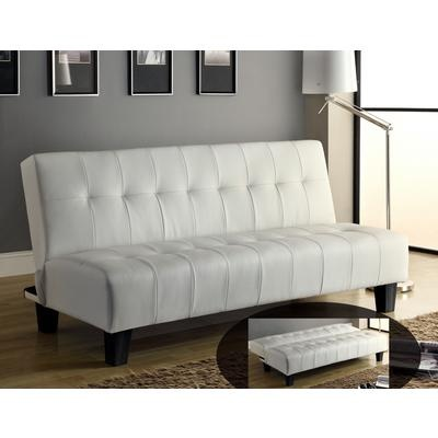 Oliver Klik Klak sofa in White - Space saving, perfect for overnight guests, also available in brown