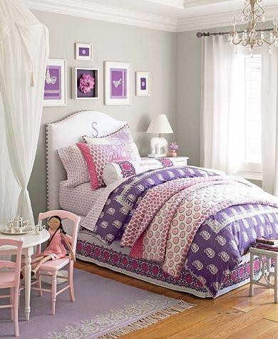 Really LOVE this whole room :) Gray Walls for Kid's room: Julianna Bedroom   Pottery Barn Kids