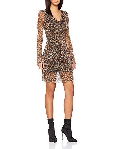 New Look Animal Plisse Twist 6039058 Vestido para Mujer Marrón (Brown  Pattern 29) 38 4c93869cf