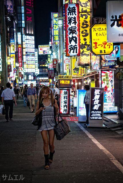 Tokyo, Shinjuku, Kabukicho Girl by Sparkling World, via Flickr