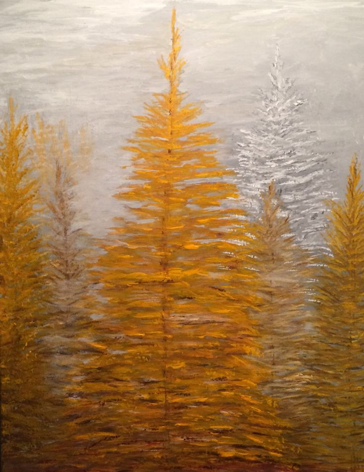 My painting from red pines
