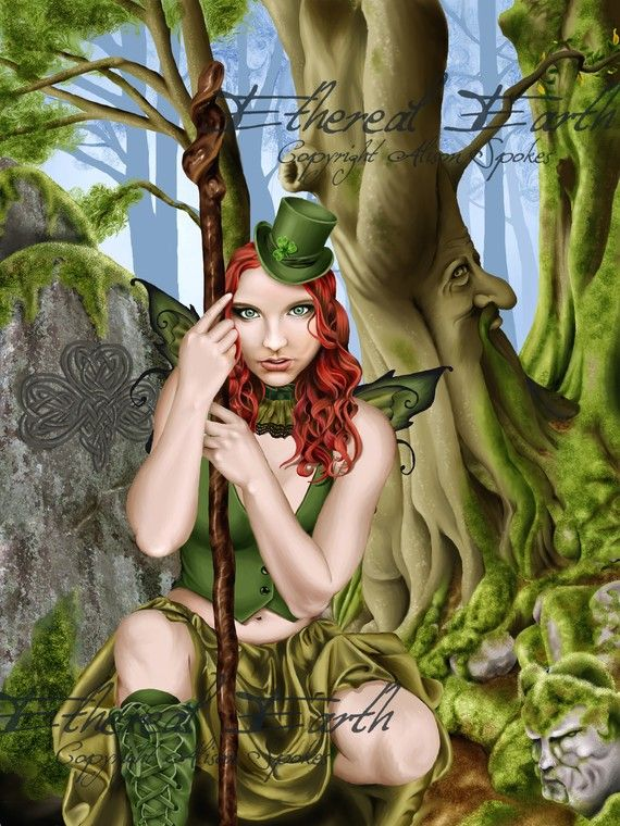 The Green Faerie - Limited Edition Signed & Numbered Print via Etsy