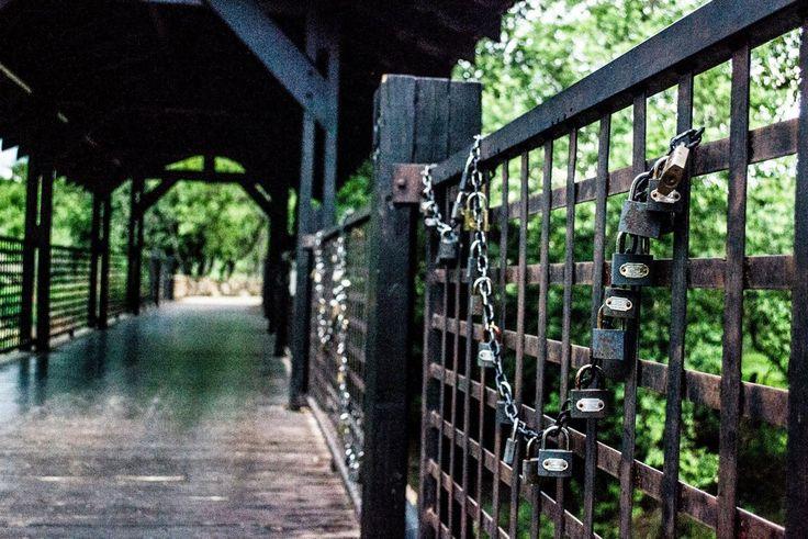 Avianto, locks of love bridge!!! Sooooooo romantic!