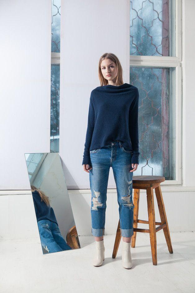 #Kaschmir #Strickpullover, ein toller #Pullover für den Herbst / #cashmere pullover made by KristaElsta via DaWanda.com