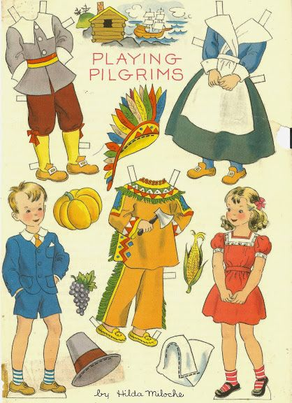 Thanksgiving paper dolls and vintage post cards - Bobe Green - Picasa Webalbum