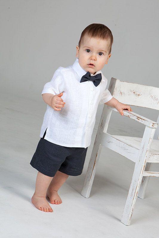 Bébé garçon anneau porteur costume garçon lin costume par Graccia