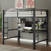 Coaster Furniture Bunks Full Metal Workstation Loft Bed #coasterfurniturebeds
