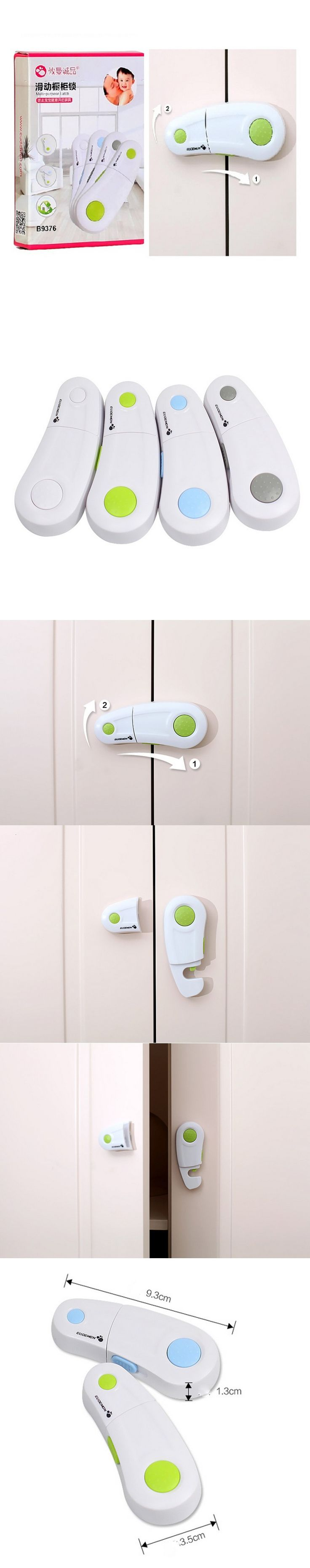2Pcs/Pack Baby Safety Cabinet Locks Drawer Refrigerator Locks Baby Safety Security Seguridad Infantil Kids Safety aTRQ0478