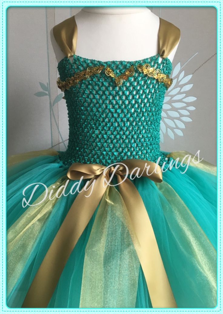 Merida Tutu Dress. Brave Tutu Dress. Beautiful & lovingly handmade.  All characters and colours available Price varies on size, starting from £25.  Please message us for more info.  Find us on Facebook www.facebook.com/DiddyDarlings1 or our website www.diddydarlings.co.uk