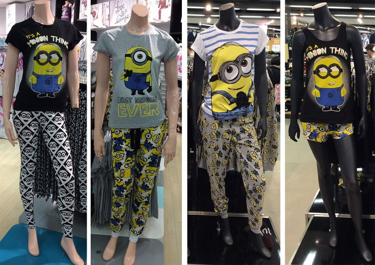 details about primark despicable me minions pyjamas sets t. Black Bedroom Furniture Sets. Home Design Ideas