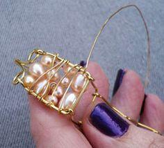 Wire wrap bracelet tutorial.