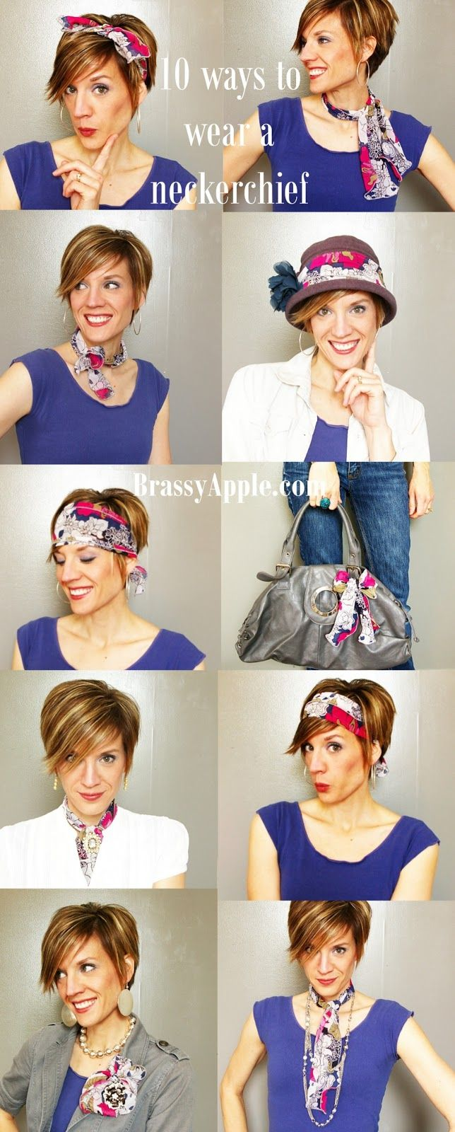 10 ways to wear a Neckerchief brassyapple.com #whattowear #scarf