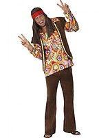 Camiseta disfraz hippie o hippy para hombre en varias tallas. Sólo incluye camiseta estampada. Complementa estas camisetas originales con artículos de nuestra sección de accesorios como peluca, colgante, gafas, bigote, cinta para el pelo, banjo o tatuajes hippys. ¡¡¡Apúntate a la moda y Camisfrázate!!!