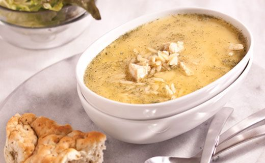 Mmmmm... some soup to try out. Epicure's greek lemon chicken soup