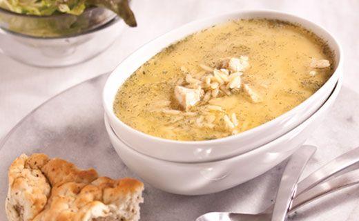 Soupe de poulet au citron à la Grecque d'Épicure (Avgolemono)