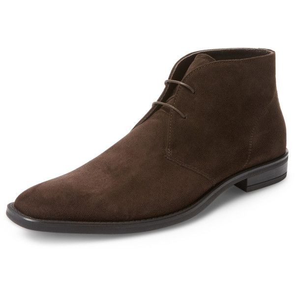 Bruno Magli Men's Lincoln Chukka Boot - Dark Brown, Size 10 ($229) ❤ liked on Polyvore featuring men's fashion, men's shoes, men's boots, dark brown, mens suede boots, mens lace up boots, mens suede chukka boots, mens suede lace up shoes and mens dark brown boots