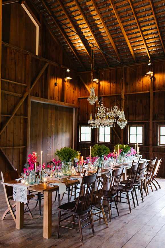 Spruce up an old barn or shed for your wedding