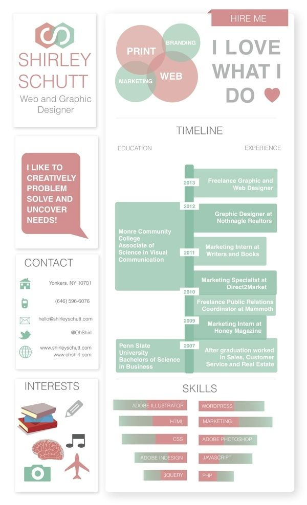 78 best resume\/portfolio images on Pinterest Resume design - resume portfolio