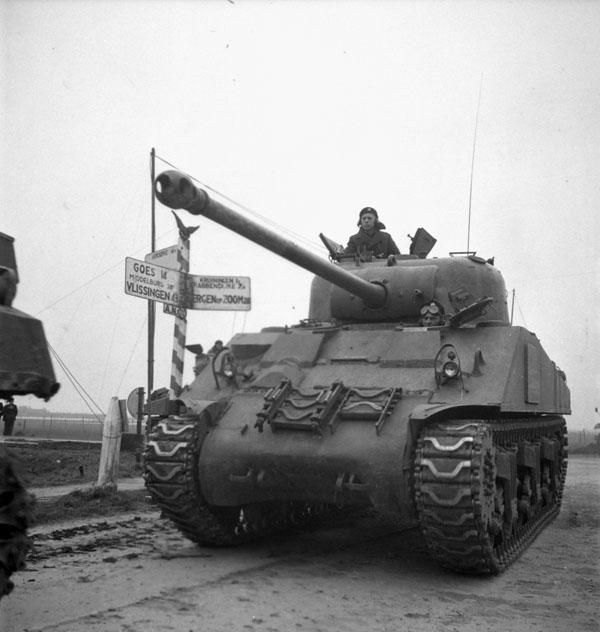 The Fort Garry Horse near the Beveland Canal, Netherlands, ca. October 29th 1944