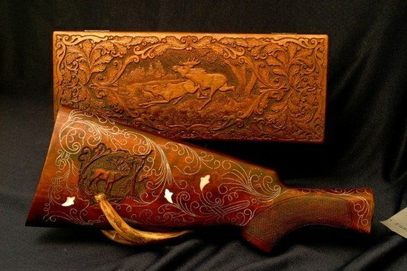 Custom gun carving and engraving weapon pinterest