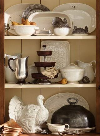 131 best images about tiered stand obsession on pinterest for Pottery barn thanksgiving