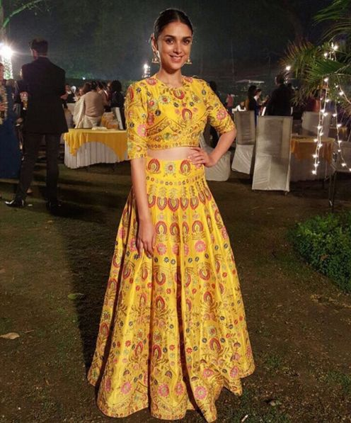 Aditi Rao Hydari in a yellow lehenga by Sonali Gupta 1 - Bollywood - Celebrity fashion 2016
